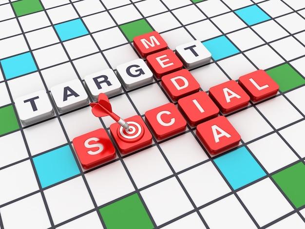 Kruiswoordraadsel social media