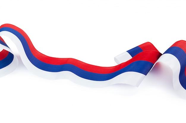 Krullende russische vlag