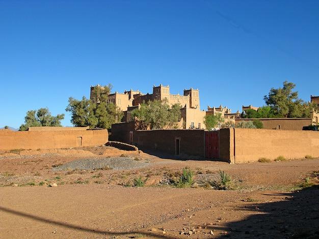 Ksar - berberhuis, ouarzazate, marokko
