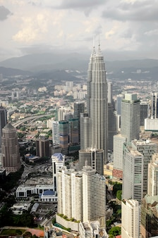 Kuala lumpur en de omliggende stedelijke gebieden