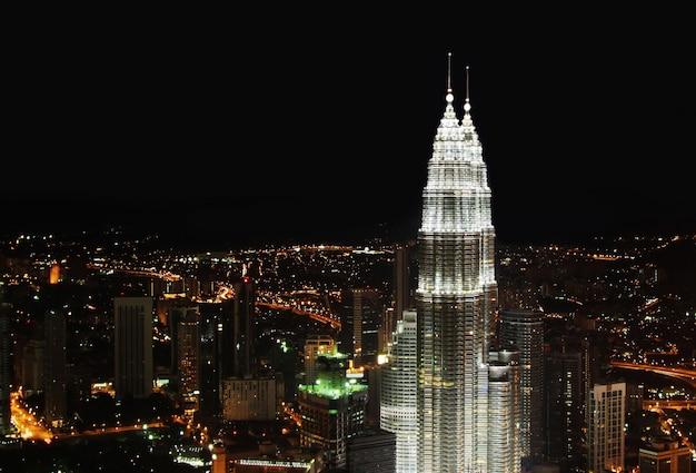 Kuala lumpur-nachtpanorama