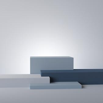 Kubus podium leeg voetstuk mockup voor product met schone achtergrond 3d-rendering
