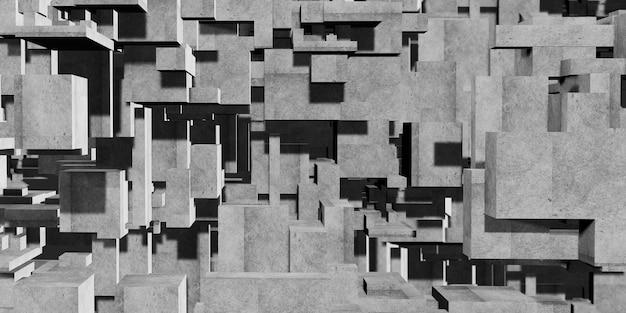 Kubus samenstelling veelhoek abstracte architectonische achtergrond abstracte geometrie van beton