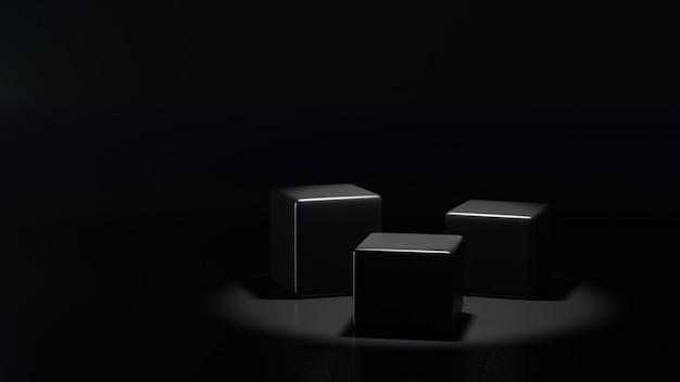 Kubuspodiumdisplay voor productpresentatie met spotlicht