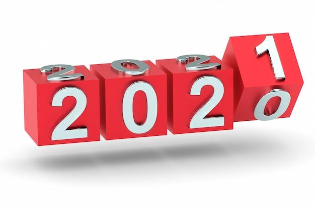Kubussen met nieuwjaarsnummer 2021 vervangen 2020
