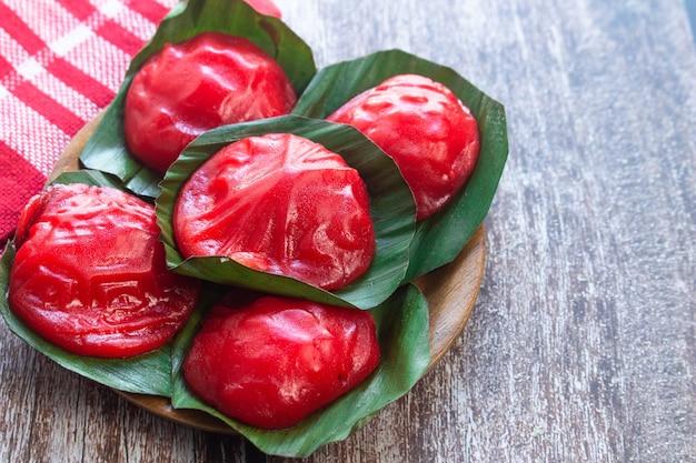 Kue ku is traditioneel eten uit indonesië
