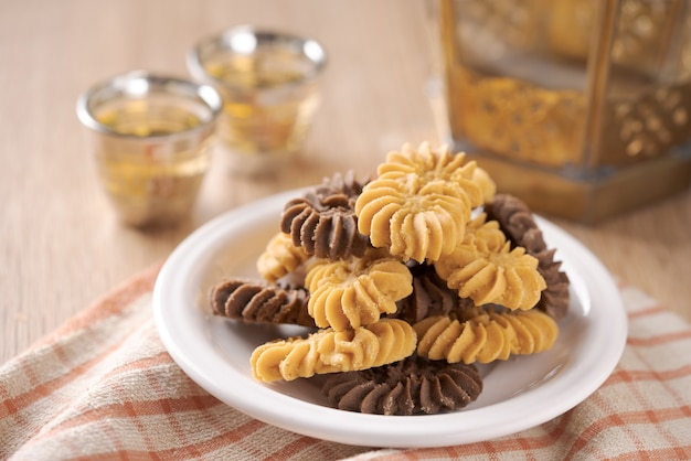 Kue sagu keju, kue tambang en kue semprit. koekjes voor lebaran idul fitri eid mubarak