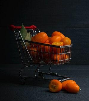 Kumquat boodschappenmand donker