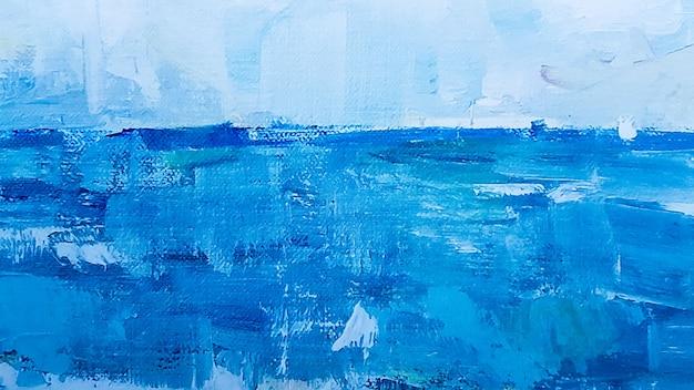 Kunst detail blauwe abstracte olie geschilderde achtergrond. turkoois olieverf textuur. abstracte kunst achtergrond. olieverf op doek. een fragment van een kunstwerk. vlekken van olieverf. moderne kunst.