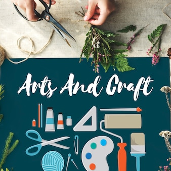 Kunst en ambacht artistiek kunstenaar design ideas concept