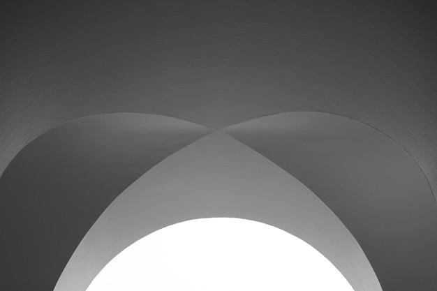 Kunst en ontwerp van architectuurplafond - modern krommiepatroon