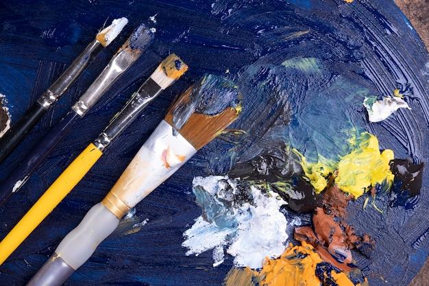 Kunst verf textuur penseel kunst verf textuur penseel kunst verf textuur penseel