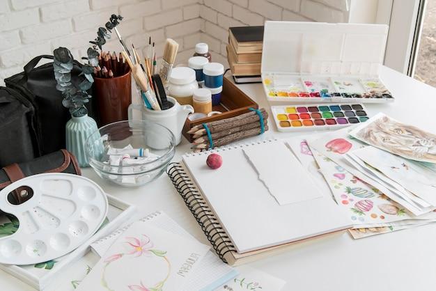 Kunstcompositie met aquarellen