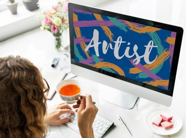 Kunstenaar kunst ambacht creatie creatief verbeeldingsconcept