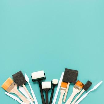 Kunstenaarsborstels met kopie-ruimte