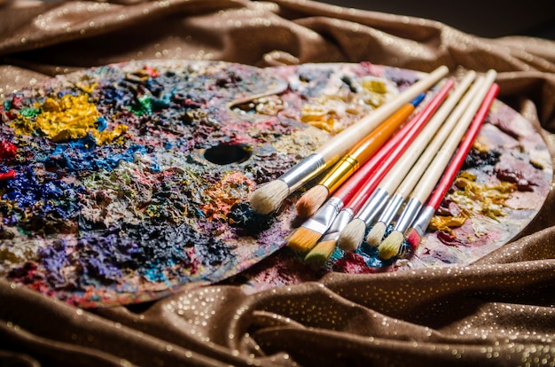 Kunstenaarspalet in kunst