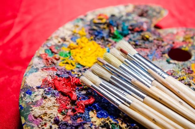 Kunstenaarspalet van kleuren
