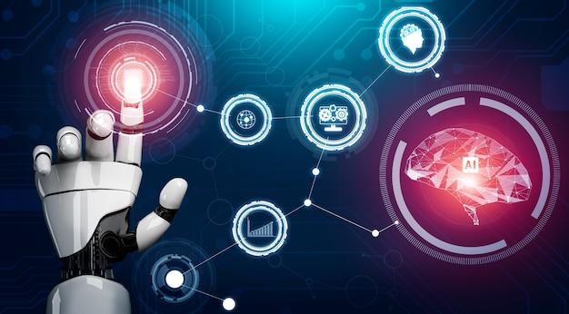Kunstmatige intelligentie ai-onderzoek naar de ontwikkeling van robots en cyborgs