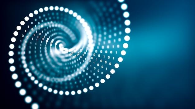Kunstmatige intelligentie dna-molecuul concept.