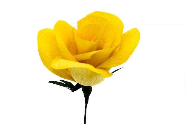 Kunstontwerp geel rozenpapier