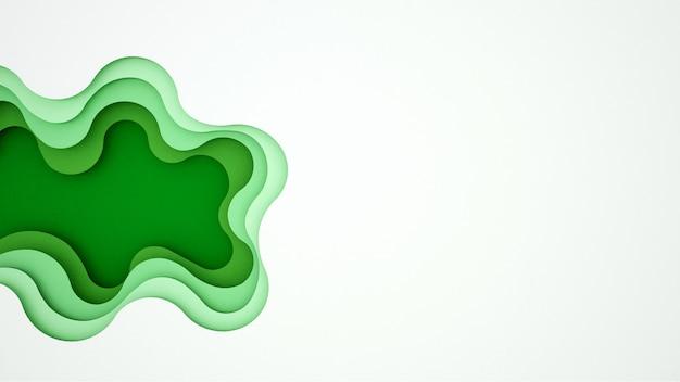 Kunstwerk groene golf en lege ruimte