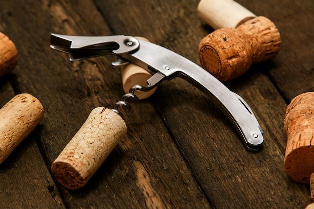 Kurkentrekker en wijnkurken