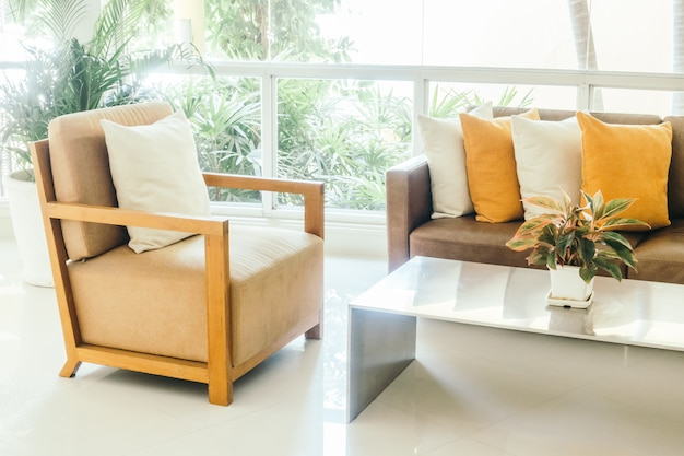 Kussen op de sofa