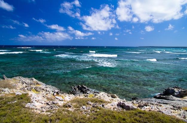 Kustlijn van de atlantische oceaan. dominicaanse republiek