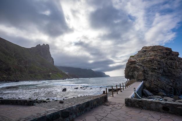Kustplaats benijo in het noorden van het eiland tenerife in spanje