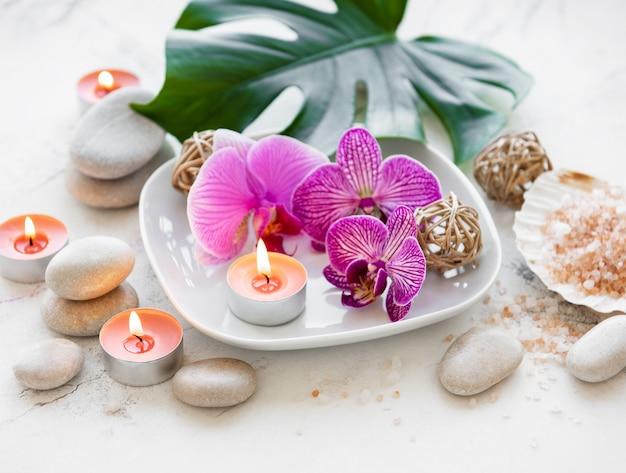 Kuuroordproducten met orchideeën