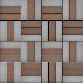 Kwadraat houten bestrating