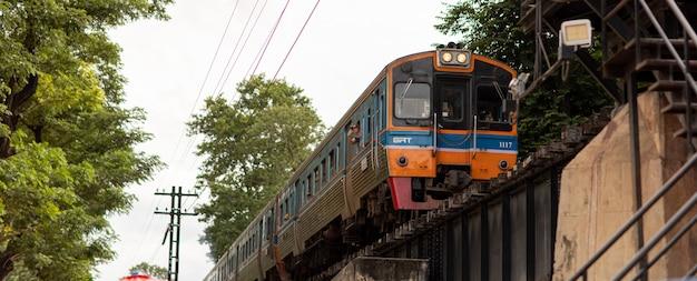 Kwai-rivierbrug, kanchanaburi 31 augustus 2019 thailand