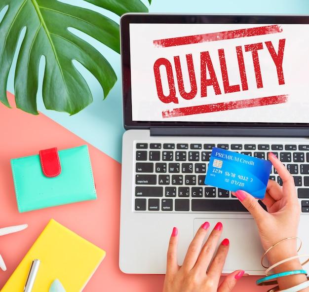 Kwaliteit standaard waarde waarde niveau klasse kwaliteit concept