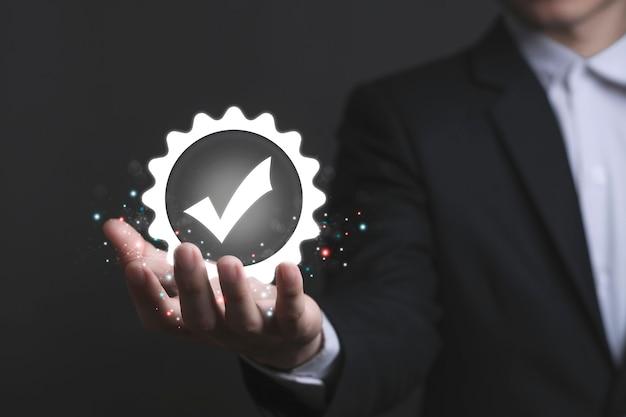 Kwaliteitsborging garantie garantie maatschappelijk verantwoord ondernemen standaard gecertificeerd concept