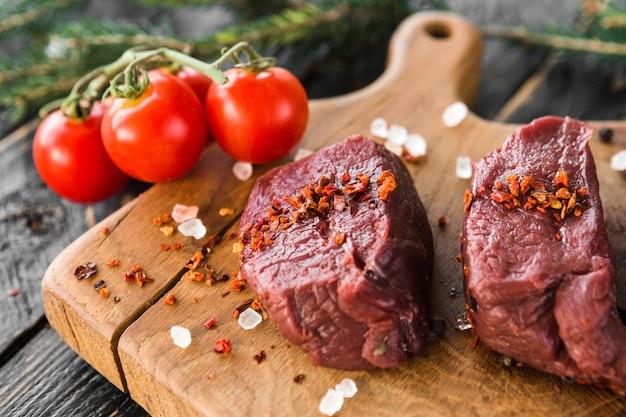 Kwaliteitsstuk rauw vlees