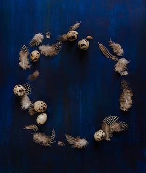 Kwarteleitjes en veren