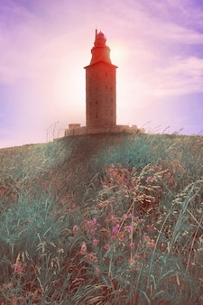 La coruna hercules-toren galicië spanje