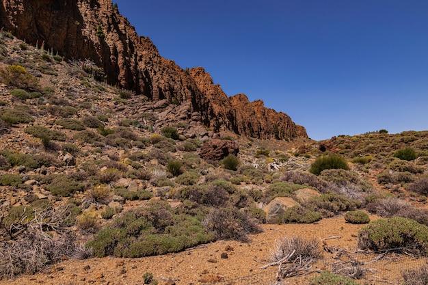 La fortaleza rotsen vorming, cañadas del teide nationaal park, tenerife, canarische eilanden, spanje