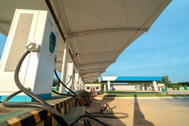 Laadstation voor elektrische voertuigen Premium Foto