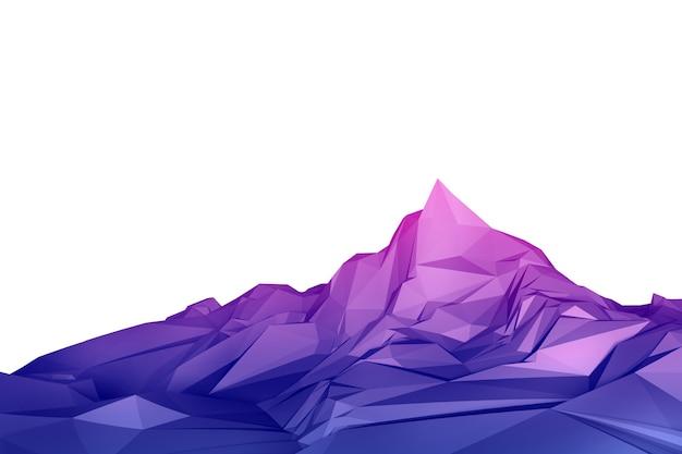Laag poly berg 3d-afbeelding illustratie