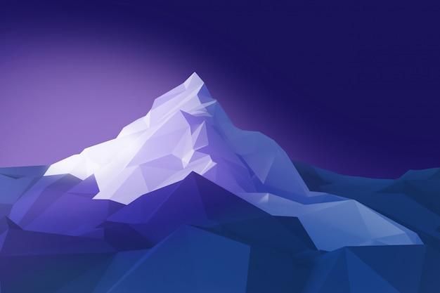 Laag polybeeld van bergen