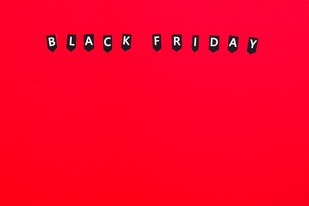 Labels met inscriptie van black friday
