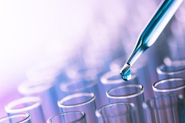 Laboratorium reageerbuisjes voor de wetenschap
