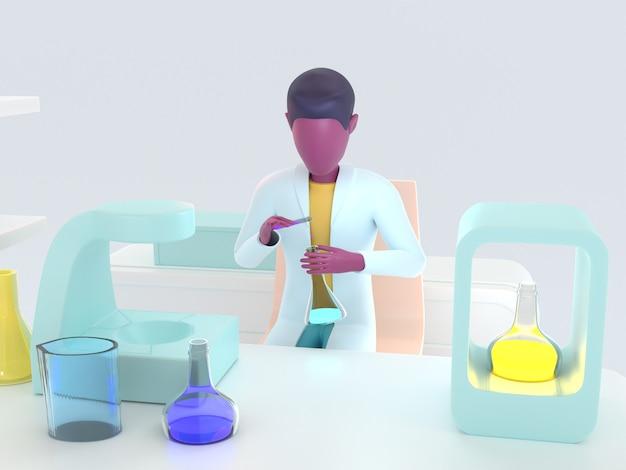 Laboratorium voor de gezondheidszorg. laboratoriumassistent op het werk.