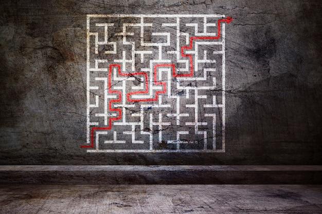 Labyrint met oplossing