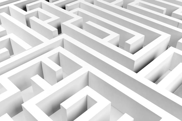 Labyrintachtergrond, complex probleemoplossend concept