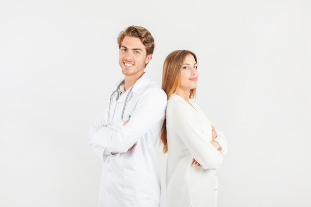 Lachende artsen