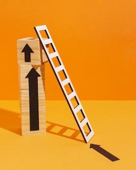 Ladder met houten blokjes
