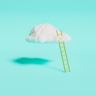 Ladder naar de witte wolk