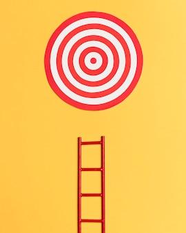 Ladder om doel te bereiken bezonken